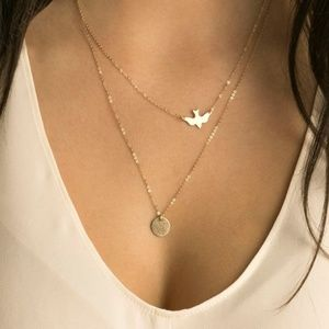Jewelry - Dove Double Layer Gold Necklace LMT Quantity